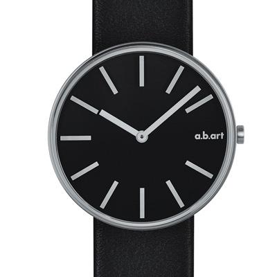a.b.art DL系列 光影美學線性腕錶-黑/39mm