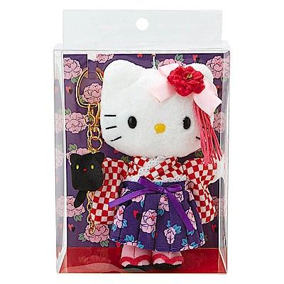 Sanrio HELLO KITTY 6吋現代和服絨毛娃娃