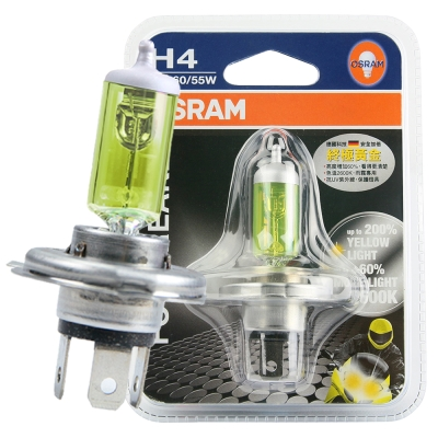 OSRAM 機車終極黃金燈泡 12V/60/55W 公司貨(H4) / 機車燈泡