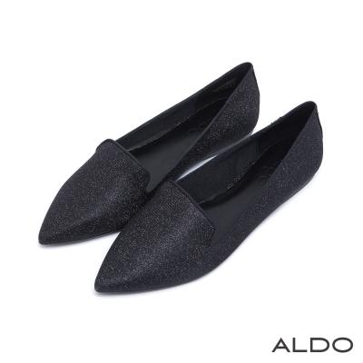 ALDO-悠閒北歐LADY黑色包框尖頭樂福鞋-尊爵黑色