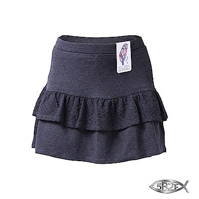 5B2F 五餅二魚 方菱紋裙襬短褲