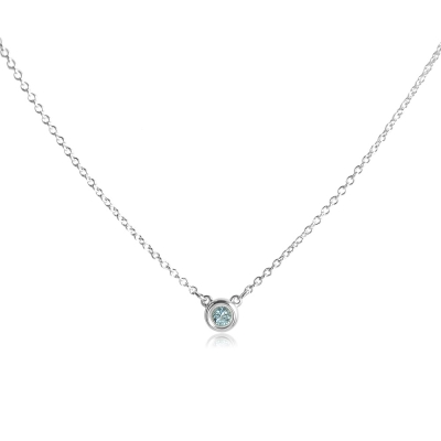 Tiffany&Co. Elsa Peretti 純淨圓形海藍寶石純銀項鍊