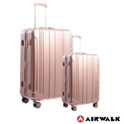 AIRWALK LUGGAGE - 金屬森林 鋁框行李箱 20+28吋兩件組-玫銅金