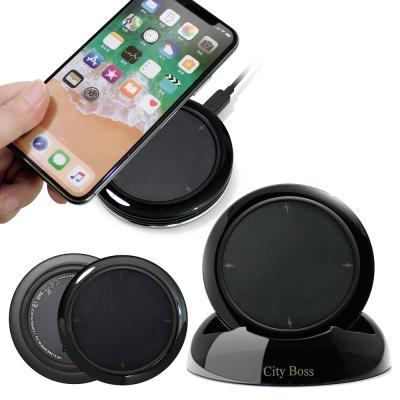 CB無線充電器5V 2A 10W搭配支架for iPhoneX Note8-黑色