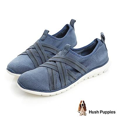 Hush Puppies TRICIA 軟Q健走鞋-藍色
