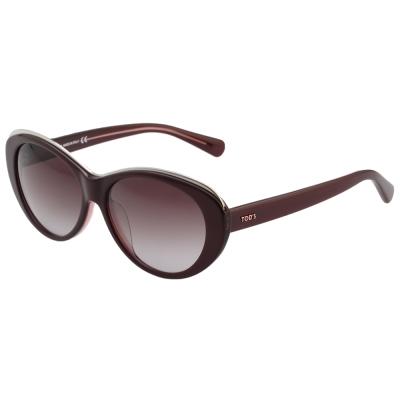 TOD'S 時尚貓眼 太陽眼鏡 (紫紅色)TO9093