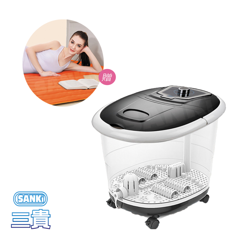 日本SANKi 好福氣加熱SPA足浴機 +獨立氣泡發熱墊 雙人