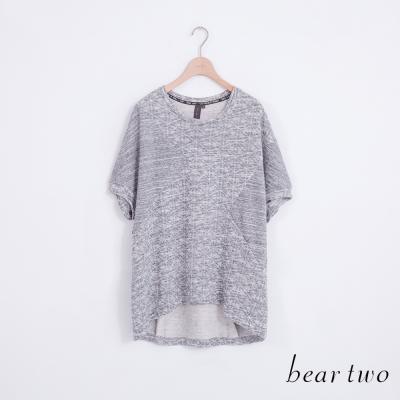 beartwo-落肩袖剪裁閃耀星爍印花上衣-共兩色