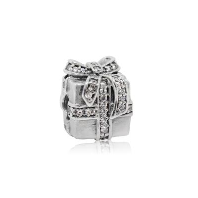 Pandora 潘朵拉 魅力鑲鋯禮物緞帶 純銀墜飾 串珠