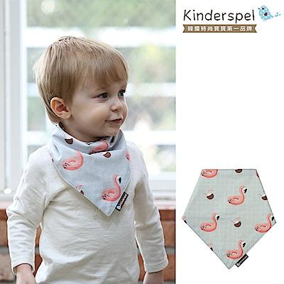 Kinderspel 繽紛時尚‧有機棉圍兜領巾(熱帶紅鶴)