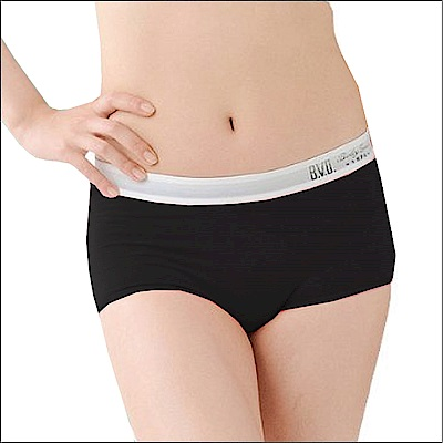 BVD Ladies  COTTON BASIC系列 1分平口內褲(黑色)