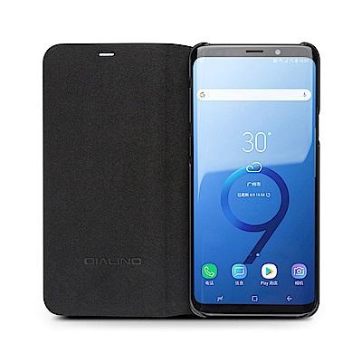 QIALINO SAMSUNG Galaxy S9 可立側翻皮套