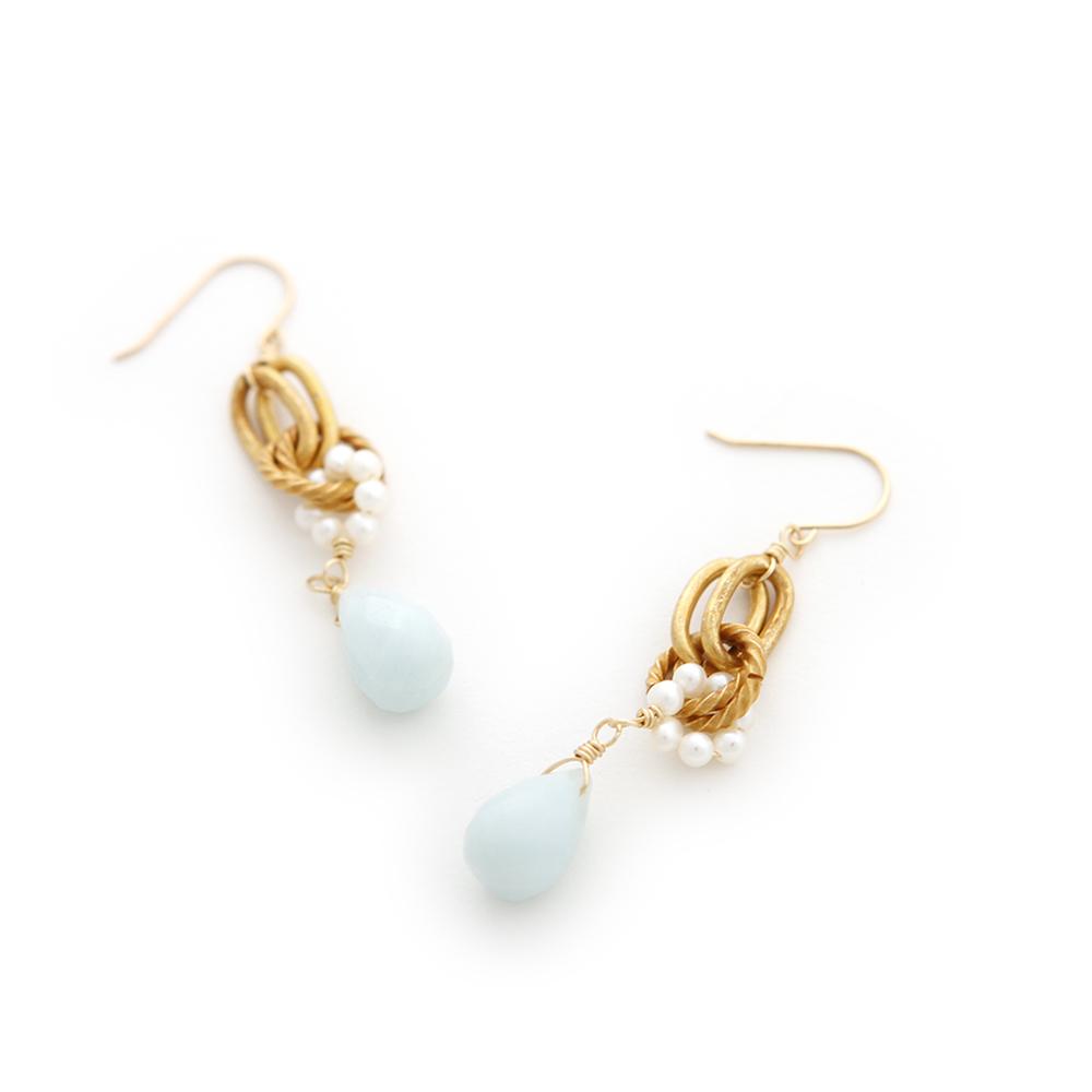 Luce Costante Foglia系列天然石耳環(針式/耳扣式)