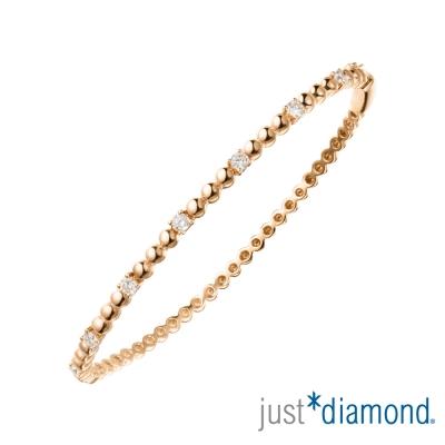 Just Diamond Rosy Rain系列18K玫瑰金鑽石手環