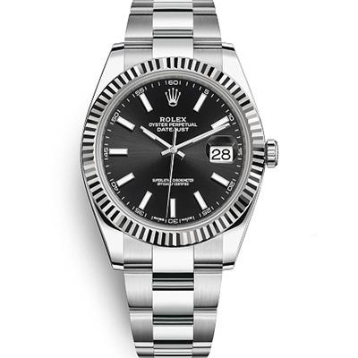 ROLEX 勞力士126334 Datejust 蠔式恆動易調鏈帶腕錶黑面-41mm