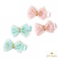 Joli Sophie 美國 金點點紗質蝴蝶髮夾2入組