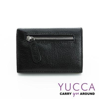 YUCCA - 牛皮俏麗多彩名片夾(迷你皮夾)-黑色-02200001009
