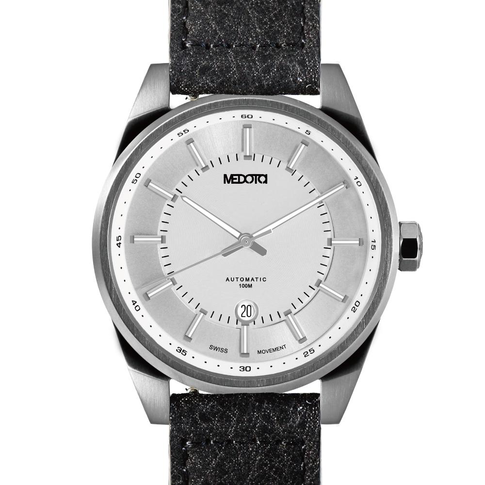 MEDOTA Grancey 伊頓系列 奢華時尚腕錶-銀/48mm