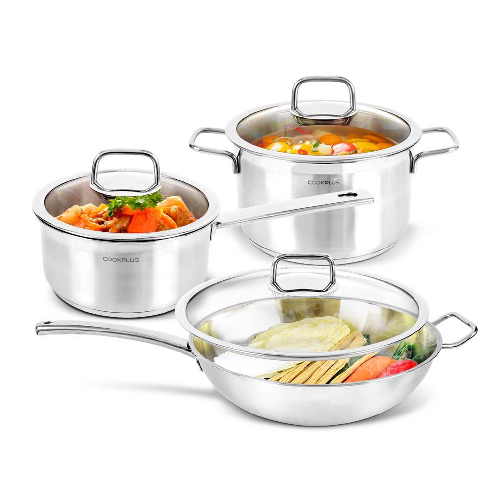 [買就送] 樂扣樂扣 歐風樂活寶不鏽鋼鍋尊享組/6件組 送 飛利浦黑晶爐 烤盤