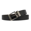 Calvin Klein 金屬滾輪旋轉扣頭雙面用穿式皮帶-黑/咖色