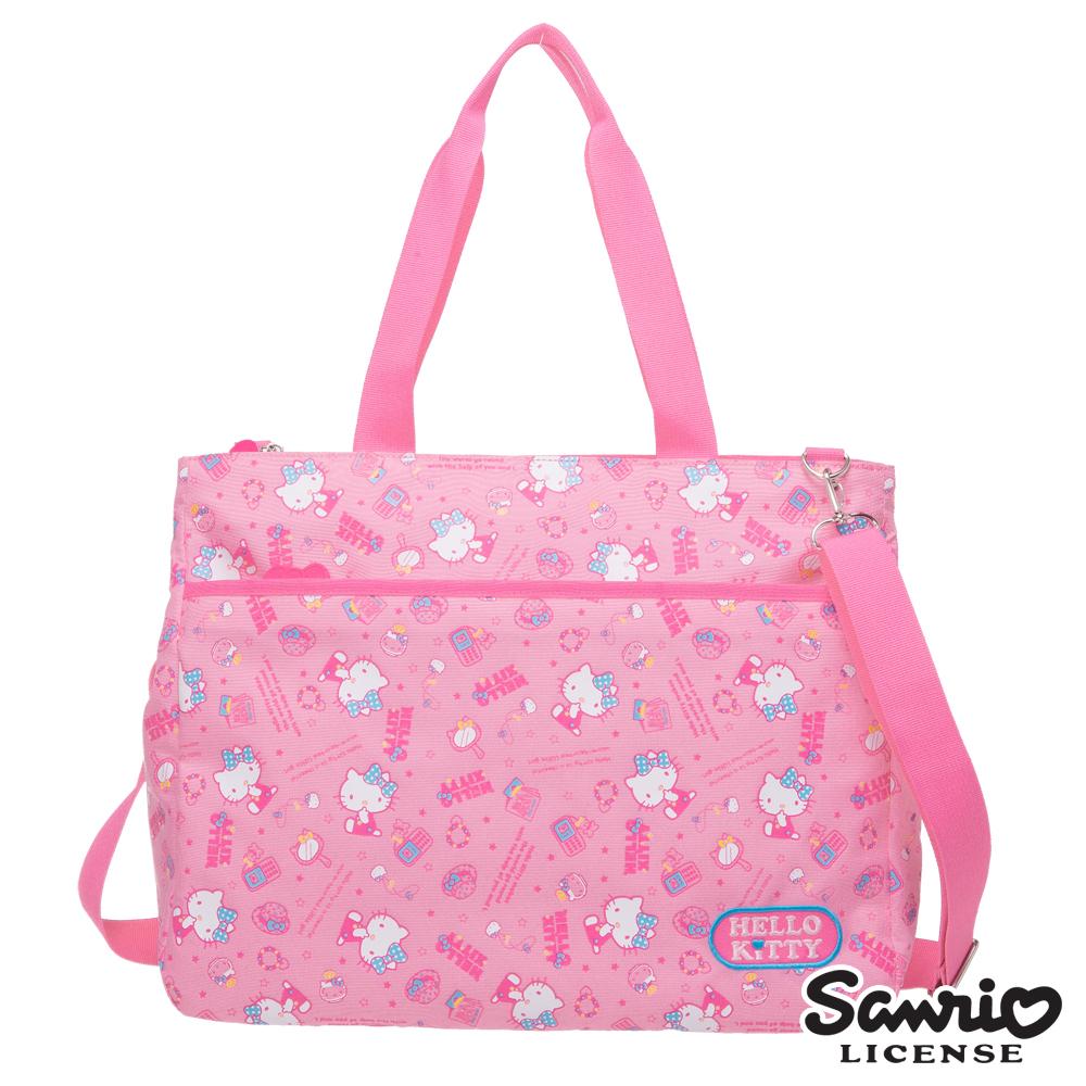 Hello Kitty 休閒潮流托特包-粉紅KT88B03PK