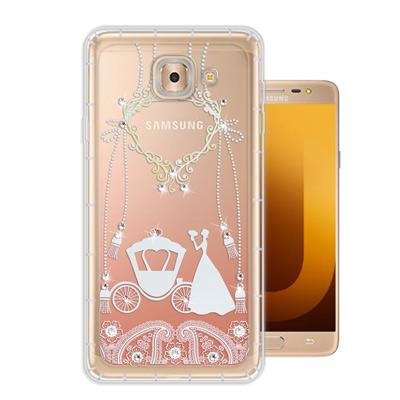 WT Samsung Galaxy J7 Max 奧地利水晶彩繪空壓手機殼(精靈...