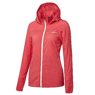 【Wildland 荒野】女可溶紗環保吸排透氣外套紅