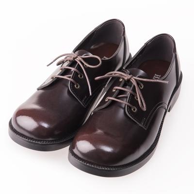 (女)日本 HARUTA 3孔綁帶學生鞋-咖啡色