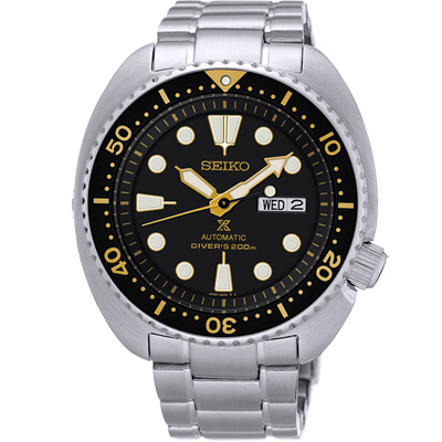 SEIKO PROSPEX 極限運動潛水機械錶(SRP775J1)-黑/44mm