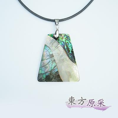 東方原采-自然系鐘形亮彩鮑魚貝項鍊