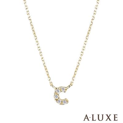 A-LUXE 亞立詩 Alphabet系列10K鑽石項鍊-C