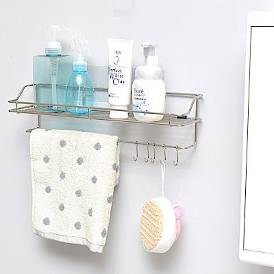 樂貼工坊 瓶罐架/毛巾架/浴室收納/微透貼面-39x11x10