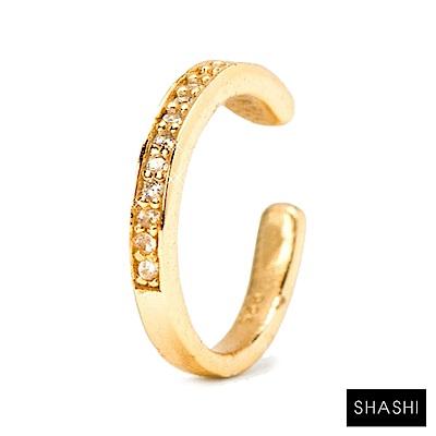 SHASHI 紐約品牌 Single Pave Cuff 單排鑽C型耳骨夾 無耳洞女孩必備