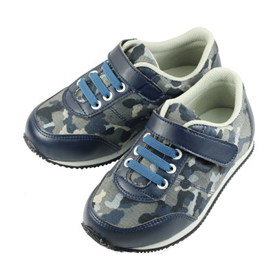 Swan天鵝童鞋-軍風迷彩休閒機能鞋0383-藍