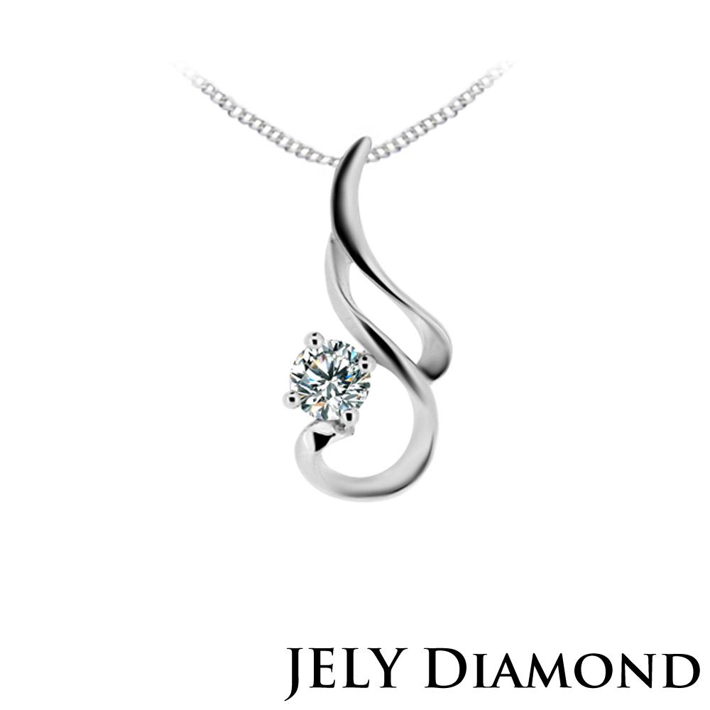 JELY 浪漫情懷0.30克拉八心八箭完美車工鑽石項鍊