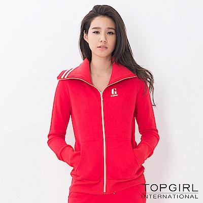 【TOP GIRL】翻領顯瘦修身外套-紅色