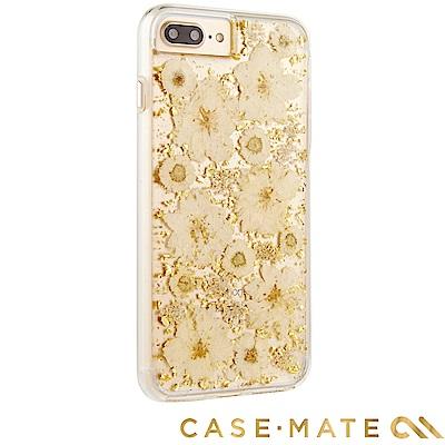 美國 Case-Mate iPhone 8+ / 7+ 真實花朵防摔手機殼 - 古典白
