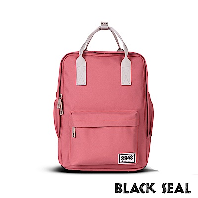 BLACK SEAL 聯名8848系列-多隔層休閒小方型後背包-西瓜紅BS83008
