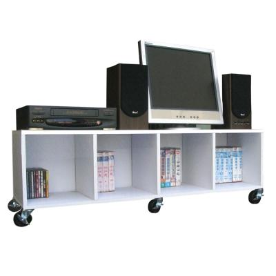 【Dr. DIY】120[寬]耐重型-電視櫃(附輪子)素雅白色