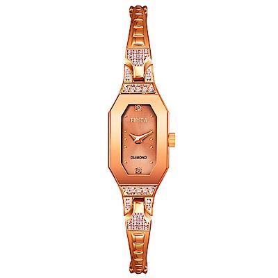 FIYTA飛亞達 玲瓏系列石英錶(L591.PPPH)-玫瑰金色/24*13mm