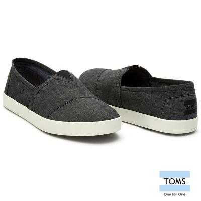 TOMS  CHAMBRAY織紋懶人鞋-男款