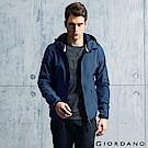 GIORDANO G-MOTION系列 防風保暖搖絨布連帽修身夾克 - 73 海軍藍