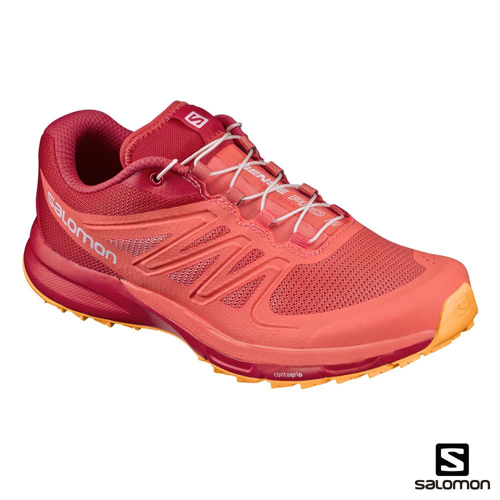 Salomon 野跑鞋 女 SENSE PRO 2 紅橘