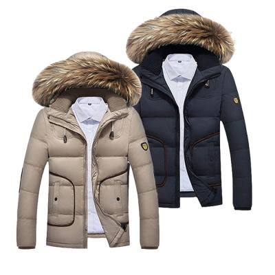 美國熊 韓版修身 填充白鴨絨 連帽毛領 羽絨外套