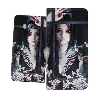 張小白授權 HTC U11 5.5吋 古典奇幻 插畫磁扣皮套(清明)