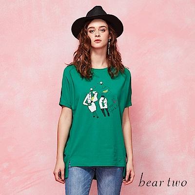 beartwo 趣味圓領造型上衣(二色)