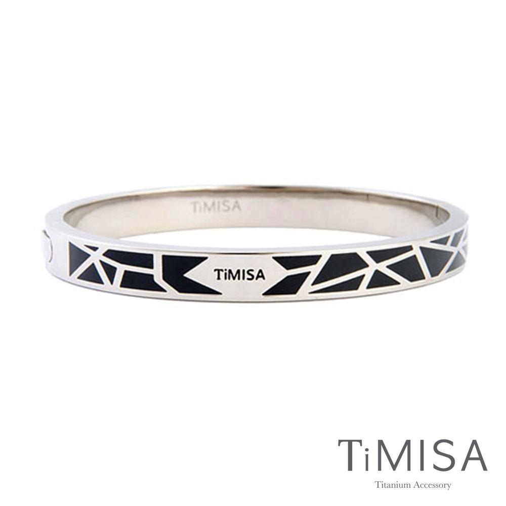 TiMISA《個性主義-原+黑》純鈦手環