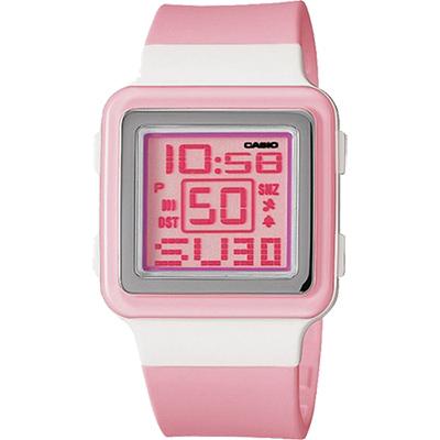CASIO Poptone 棉花糖彩衣錶(LDF- 20 - 4 A)-粉紅