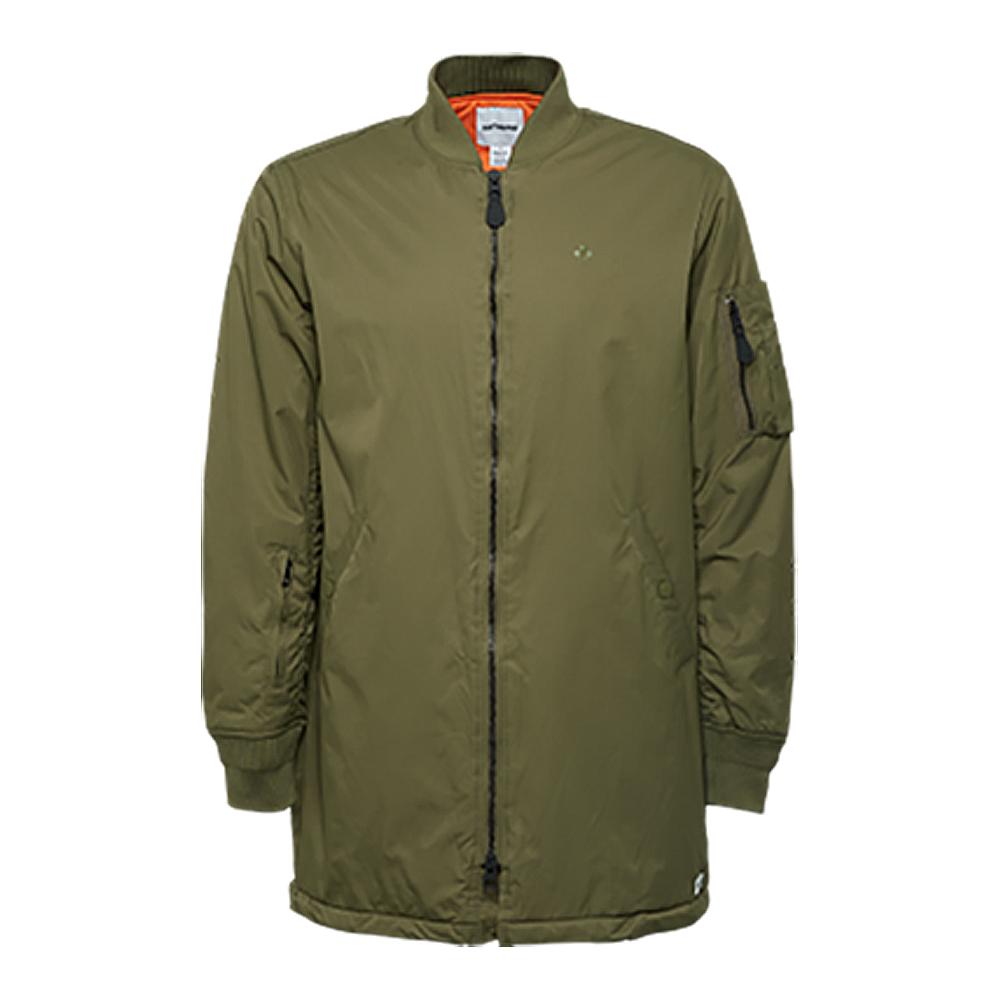 CONVERSE-男休閒外套10005114A02-橄欖綠