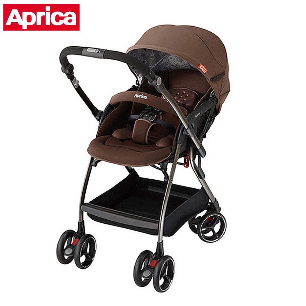 【Aprica】 四輪自動定位導向型嬰幼兒手推車 Optia新視野 典藏棕